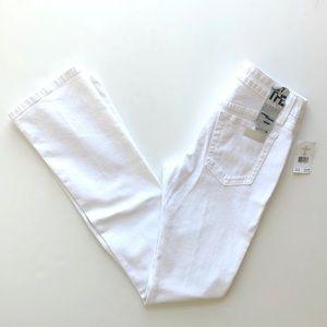 NWT Joe's Jeans White Starlet Slimleg Boot Justen